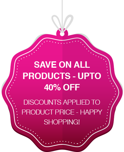 SAVE ON ALL PRODUCTS - UP TO 40% OFF