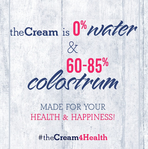 0% Water + up to 85% Colostrum!