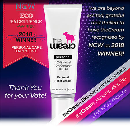 PERSONAL Relief Cream WINS an NCW 2018 ECO Excellence Award!