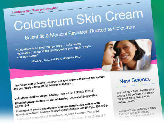 Scientific & Medical Research Related to Colostrum